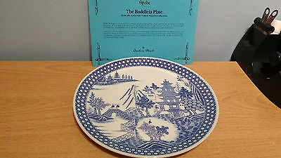 """Spode Authentic Willow Pattern Collection Plate """"Buddleia"""". Mint+ Box & Document"""