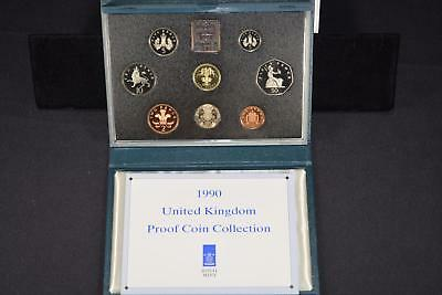 1990 Royal Mint United Kingdom (8) Coin Proof Collection Set Great Britain