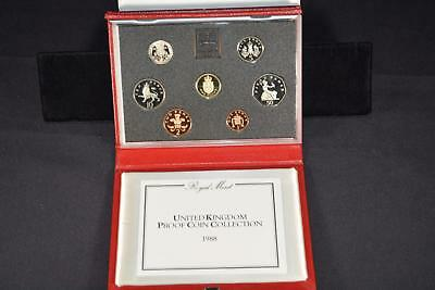 1988 Royal Mint United Kingdom (8) Coin Proof Collection Set Great Britain