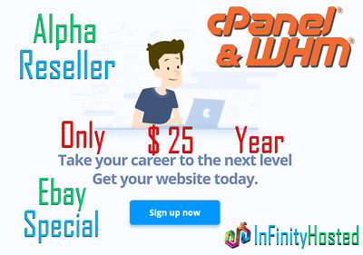 Alpha Reseller Hosting ONE YEAR UNLIMITED cPanel/WHM Free .xyz Domain!