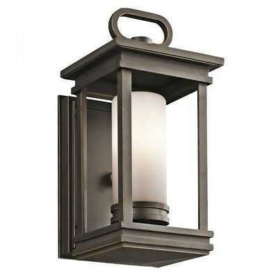 "Kichler South Hope 1-Light 11.75"" Small Outdoor Wall in Rubbed Bronze"