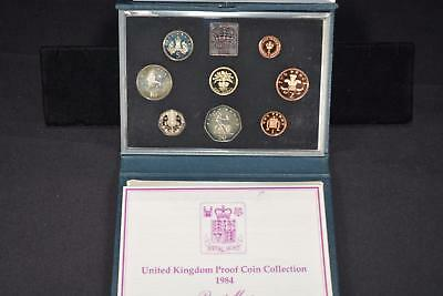 1984 Royal Mint United Kingdom (8) Coin Proof Collection Set Great Britain