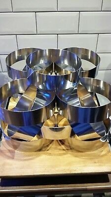 8 inch Mousse/ Dessert Mould. Stainless Steel. £5 each. 15 available.