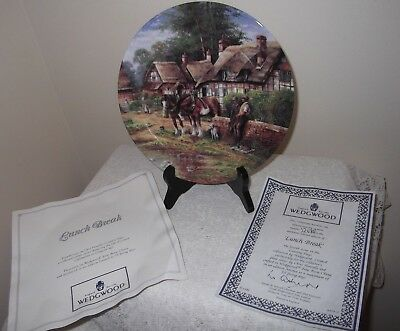A Wedgwood Country Days - Lunch Break Collectors Plate By Chris Howells