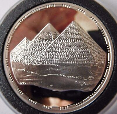 5 Pounds, Silver Coin, Egypt  - The Great Giza Pyramids, 1993 KM#740