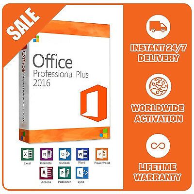 GENUINE Microsoft Office 365 Professional Plus 5Pc - 1TB OneDrive - Office 2016