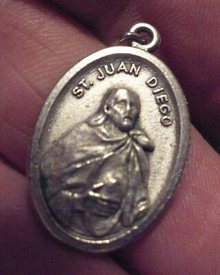 Vintage  Saint Juan Diego  &  Our Lady Of Guadulupe  Medal
