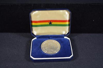 1958 Ghana 10 Ten Shillings Silver Proof With Presentation Case
