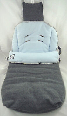 Chancelière RED CASTLE gris bleu 6-18M polaire douce chaud// boy baby footmuff