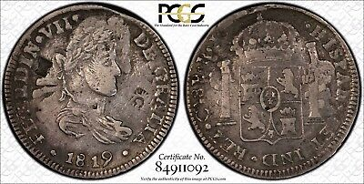 MEXICO War Of Independence CHIHUAHUA 1819 CA RP 8 Reales PCGS VF35 O/S KM 111.1