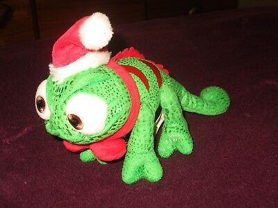 "Disney Tangled Pascal Rapunzel soft beanie toy 8"" long Christmas design"