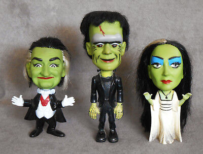1964 MUNSTERS Remco Toy Figure TV MONSTERS Herman Lilly Grandpa COMPLETE Vintage