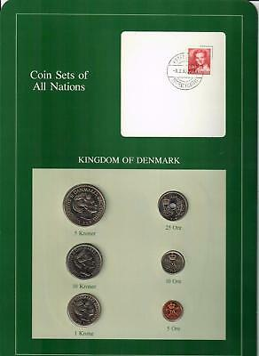 1984 Kingdom Of Denmark Coin Sets Of All Nations (6) Coins