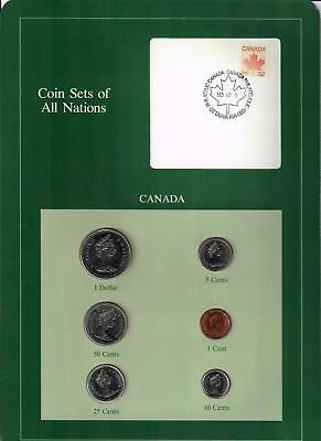 1982-1985 Canada Coin Sets Of All Nations (6) Coins Ottawa Postmark