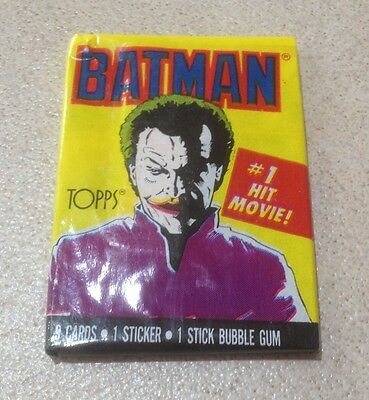 "1989 Topps ""Batman (The Movie) - Series 1"" - Wax Pack (The Joker Variation)"