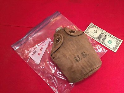Very rare US WWI 1918 dated canteen + 1917 canvas  A002