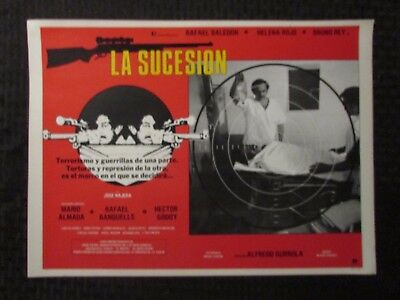 1980 LA SUCESION Foreign 16x12 Lobby Card FN-/FN+ LOT of 8 Rafael Baledón