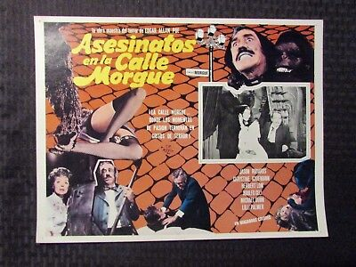 1971 Murders in the Rue Morgue Foreign 16x12 Lobby Card VG+ 4.5 Jason Robards