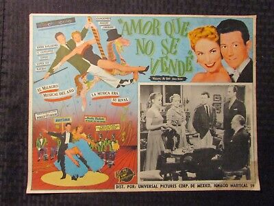 1953 WALKING MY BABY BACK HOME Foreign 16x12 Lobby Card VG- 3.5 Donald O'Connor