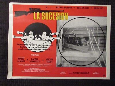1980 LA SUCESION Foreign 16x12 Lobby Card FN-/FN+ LOT of 7 Rafael Baledón