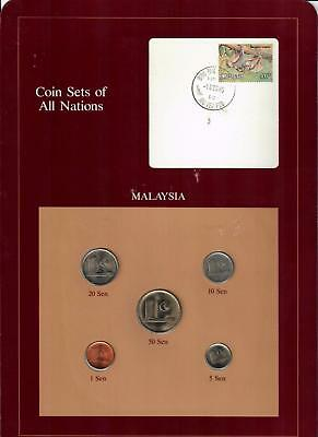 1973-1984 Malaysia Coin Sets Of All Nations (5) Coins