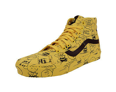 Vans Men Women Unisex Shoes Peanuts Charlie Brown Maize Yellow SK-8 Hi Reissue