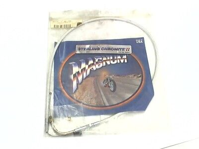 """Magnum Sterling Chromite II Braided Idle Cable 31.75"""" Fits Many Harley-Davidson"""