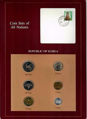 1983-1984 Republic Of Korea Coin Sets Of All Nations (6) Coins