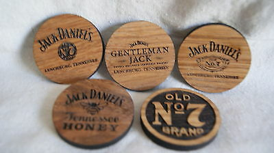 Jack Daniels SHOT GLASS COASTER - 5 Different Variations to Choose! - GREAT GIFT