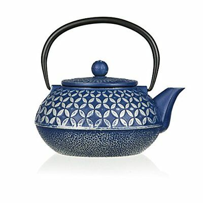 27oz Japanese Cast Iron Teapot with Fine Mesh Stainless Steel Infuser - Enamel C