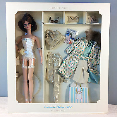 2002 Continental Holiday Giftset - Barbie Fashion Model LE Silkstone - NRFB