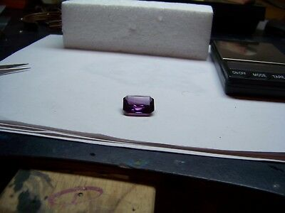 stunning  lab created man made 25 x 15 x 8 emerald cut Alexandrite carat 24.60