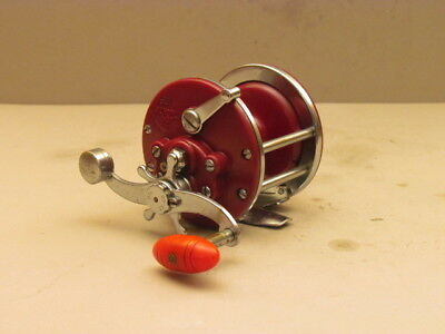 Penn Monofil Model 27 Saltwater  Reel/made In Usa/rare Plum Color/look!!!
