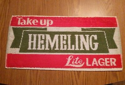 (Look) Hemeling Lite Lager Beer bar pub cloth towel game room man cave