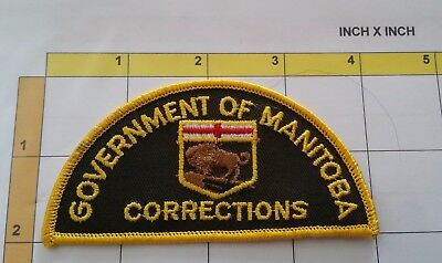 Canada Manitoba Corrections Jail Prison Obsolete Dept Officer Patch