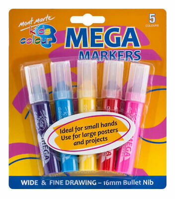 Mont Marte Kids - Colour Mega Markers 5pc