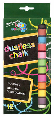 Mont Marte Kids Colour Dustless Chalk 10pce