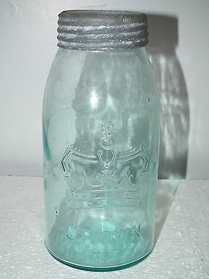 Antique Genuine Bulge Crown Half Gallon Fruit Canning Jar Sealer  Canada