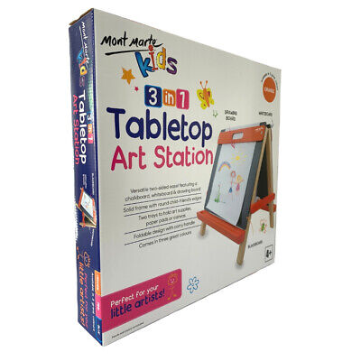 Mont Marte Kids Tabletop Art Station Easel - Orange