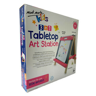 Mont Marte Kids Tabletop Art Station Easel - Pink