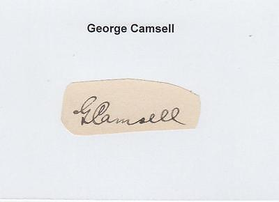 George Camsell (†1966) Middlesbrough  England  signed Autograph