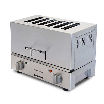 Toaster Vertical Slot 6 Slice 15amp Roband TC66 Commercial Restaurant Toast NEW