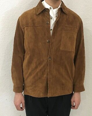 Brooks Brothers button front suede jacket Sz M