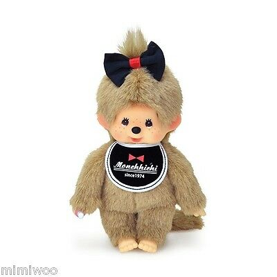 Sekiguchi Monchhichi S Size Since 1974 MCC Girl with Hair Bow ~~~ FREE S&H ~~~
