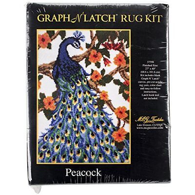 Latch Hook Kit 27X40-Peacock