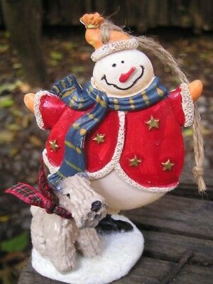 Soft Coated Wheaten Terrier SNOWMAN Christmas Ornament!