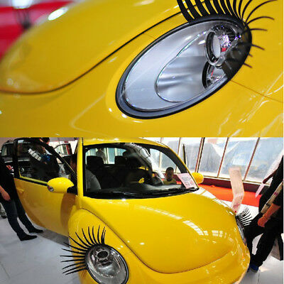 2*Auto 3D Eyelash Automotive Eyelashes Car Eye Lashes 3D Car Logo Sticker