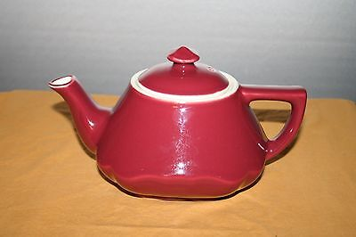 Vintage Hall Baltimore Style Maroon Teapot with Lid