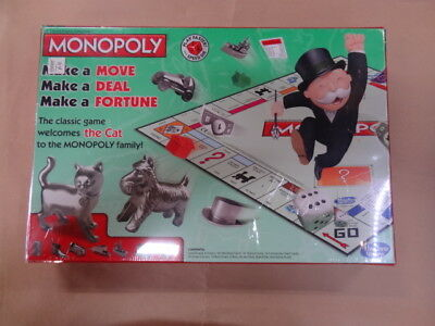 Monopoly Board Game 2014 Edition with Cat Token New in Factory Sealed Box
