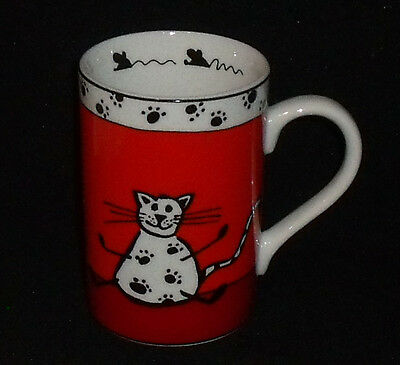 """Konitz Cat Coffee Mug Cup 4.25"""" Germany Red Band Mouse"""